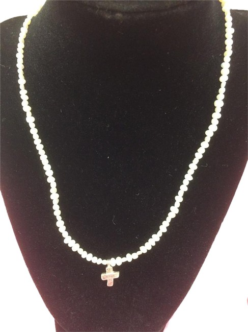 Item - Pearl Sterling Silver Freshwater Cross Necklace