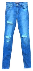 JOE'S Distressed High Waisted Faded Skinny Jeans-Distressed