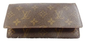 Louis Vuitton Vintage Monogram Canvas Leather Long Bill Receipt Wallet