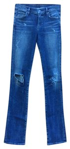 Citizens of Humanity Distressed Long Inseam Straight Leg Jeans-Distressed