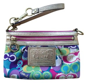 Coach Colorful Poppy Wristlet in Multi-colored