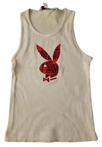 Playboy T Shirt White and Red