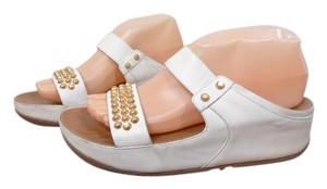 FitFlop Studded Leather white Sandals