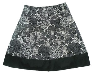 RQT Skirt Black & White Floral