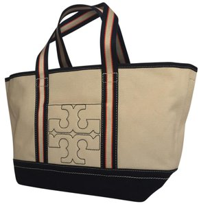 Tory Burch Tote in NATURAL IVORY NAVY