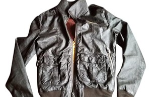 Super Dry Dark chocolate Brown Leather Jacket