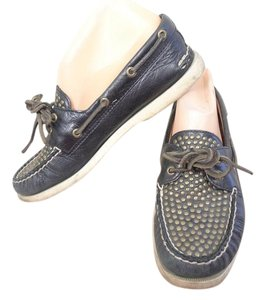 Sperry Boat Studded Leather BLACK Boots