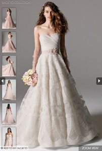 Watters & Watters Bridal Never Worn - Watters Edlin Style 8065b With Extra Length Wedding Dress