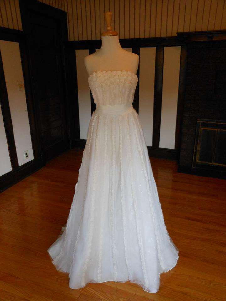 Mori lee ivory sample destination wedding dress size 2 xs Wedding dress xs