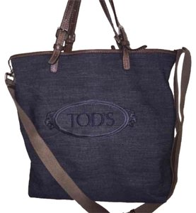 Tod's Tote in Blue And Tan