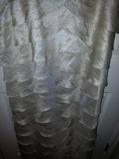 Adrianna Papell Shimmery Champaign #59782 Formal Bridesmaid/Mob Dress Size 16 (XL, Plus 0x)