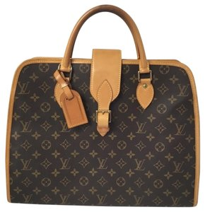 431a698f668a Louis Vuitton Rivoli Briefcase with Luggage Tag Canvas Monogram Laptop Bag