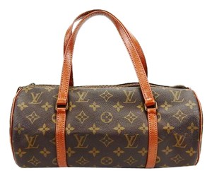Louis Vuitton Papillon Satchel in Brown