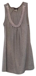 CM COUTURE Top Gray with White Pearls