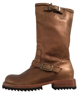 Jim Barnier Engineer Metallic Leather Bronze Boots