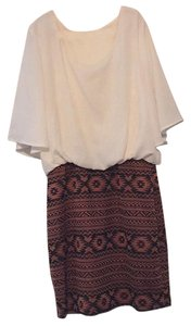 My Beloved short dress Ivory with print skirt on Tradesy