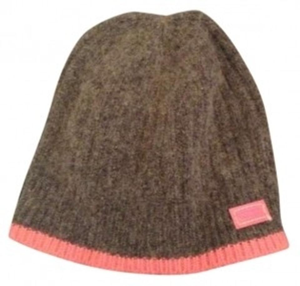 Coach Pink and Gray Winter Hat Activewear Size OS (one size) - Tradesy a0ca21a25c20