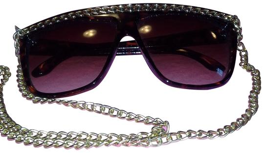 Claire's Claire's Brown with Gold Chain Sunglasses