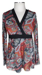 Sweet Pea by Stacy Frati Top red black
