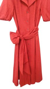 red Maxi Dress by Dana Buchman Midi