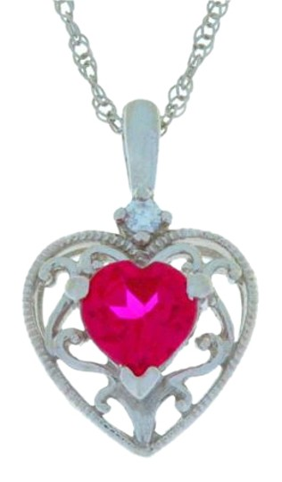 Preload https://img-static.tradesy.com/item/17914984/1-ct-ruby-heart-pendant-925-sterling-silver-necklace-0-1-540-540.jpg