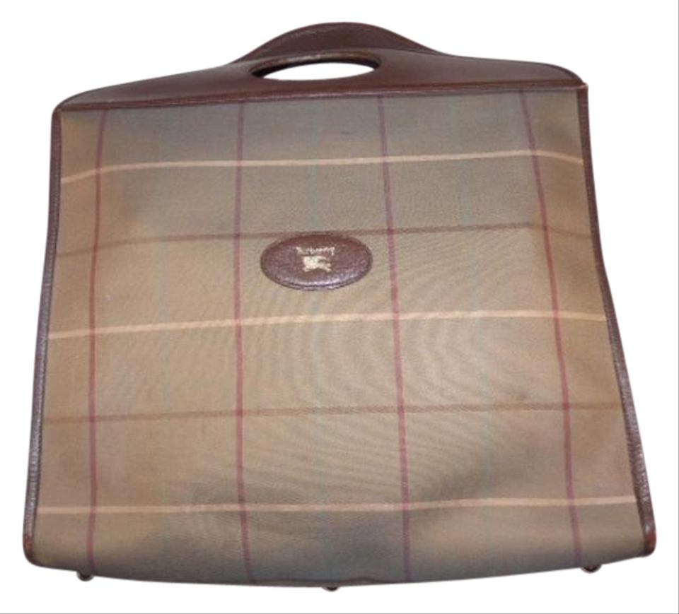 d7863fc2add Burberry Tote/Shopper Style Perfect For Everyday Window Pane Plaid 60s/70s  Shape Mint ...