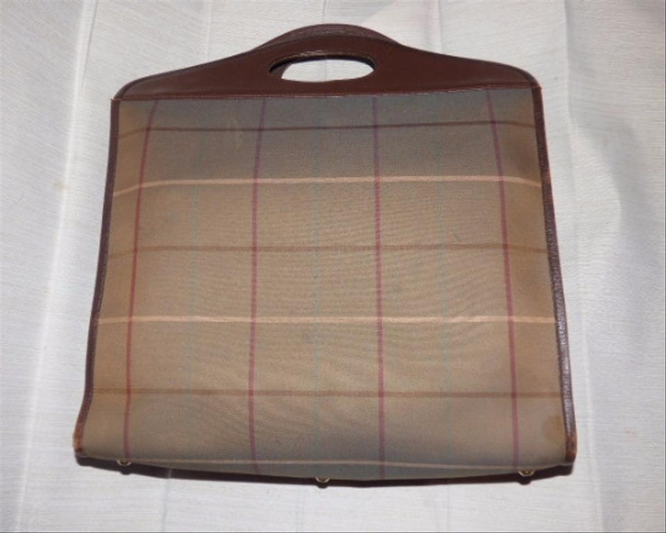 19109d38018 Burberry Tote/Shopper Style Perfect For Everyday Window Pane Plaid 60s/70s Shape  Mint. 12345
