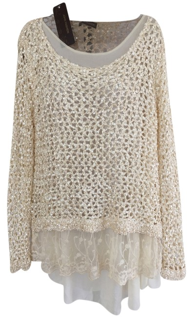 Item - Ivory Lace Sequin Tunic Size 12 (L)