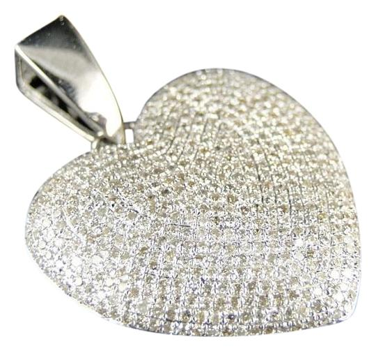 Preload https://img-static.tradesy.com/item/17916184/white-gold-ladies-puffed-heart-genuine-pave-set-diamond-pendantcharm-25-ct-necklace-0-1-540-540.jpg