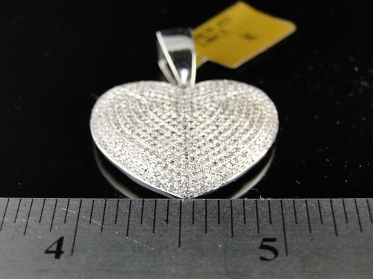 Other White Gold Ladies Puffed Heart Genuine Pave Set Diamond Pendant/Charm 2.5 Ct Image 4