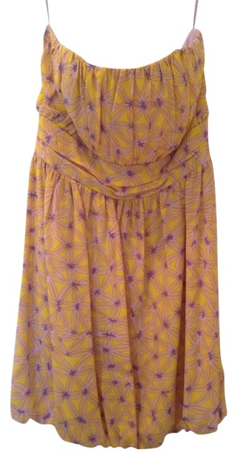 Preload https://item4.tradesy.com/images/milly-of-new-york-yellow-and-lavender-night-out-dress-size-4-s-1791633-0-0.jpg?width=400&height=650