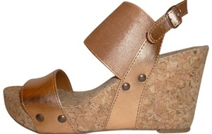 Lucky Brand Wedge Copper Platforms