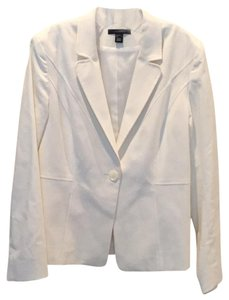Louben Stretchy White Blazer