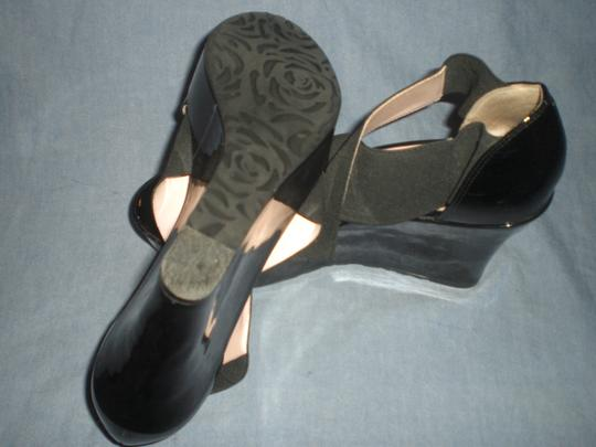 Taryn Rose Platform Patent Leather black Wedges Image 2