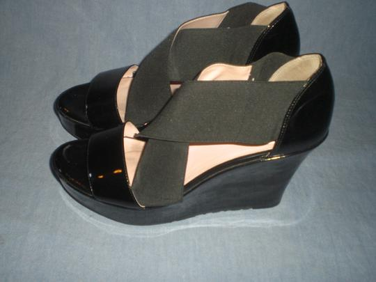Taryn Rose Platform Patent Leather black Wedges Image 3