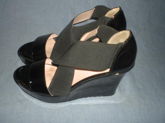 Taryn Rose Platform Patent Leather black Wedges Image 5