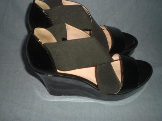 Taryn Rose Platform Patent Leather black Wedges Image 7