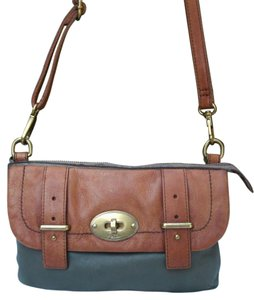 Fossil Mason Forest Olive Zb5136 Leather Cross Body Bag