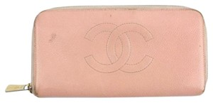 Chanel Caviar Pink Zip Wallet 38CCA722