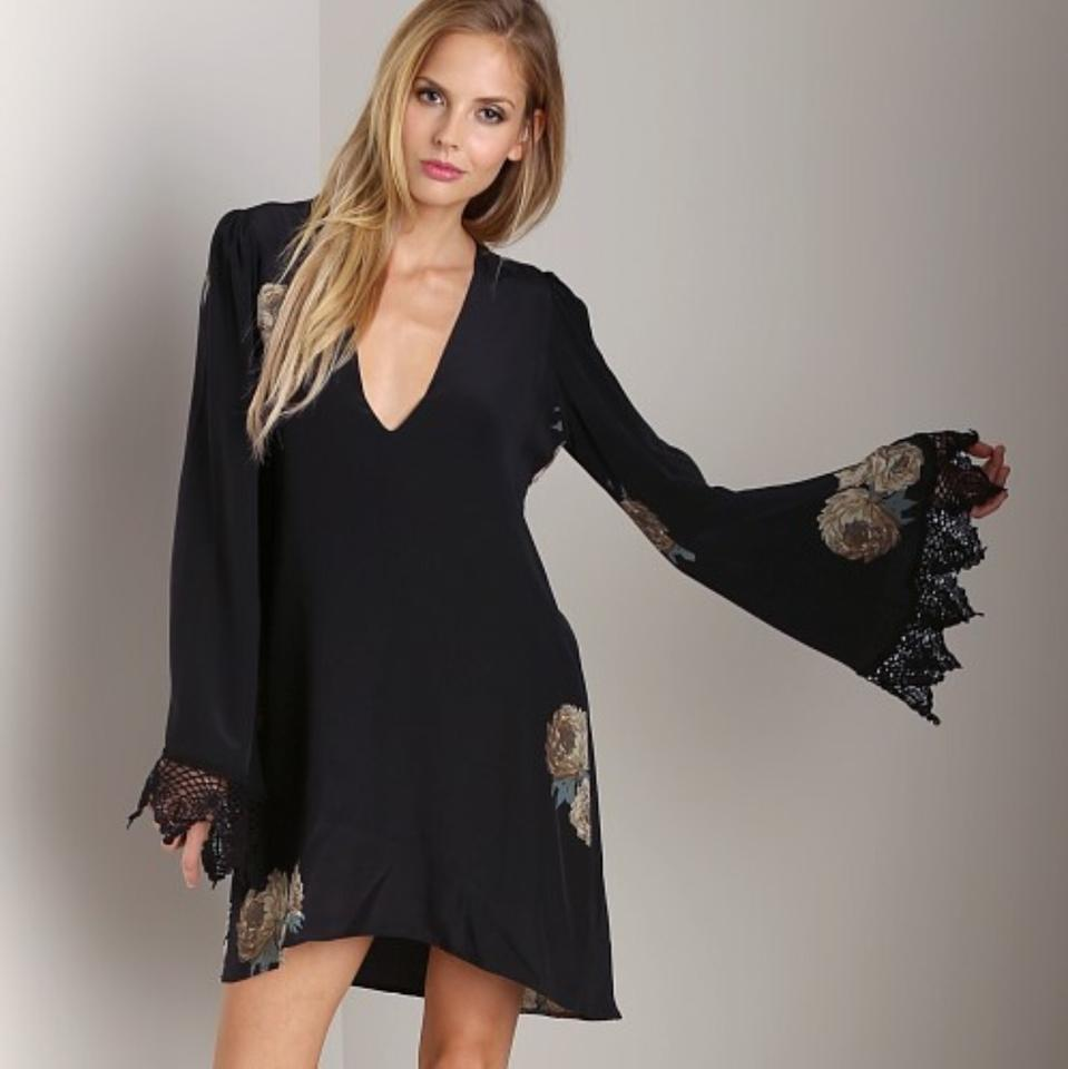 Stone Cold Fox Onyx/Black Above Knee Night Out Dress Size 4 (S ...