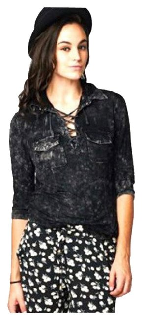 Preload https://img-static.tradesy.com/item/17916724/black-new-mineral-wash-lace-up-small-medium-large-button-down-top-size-8-m-0-1-650-650.jpg