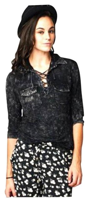 Preload https://img-static.tradesy.com/item/17916793/black-new-mineral-wash-lace-up-small-medium-large-button-down-top-size-4-s-0-1-650-650.jpg