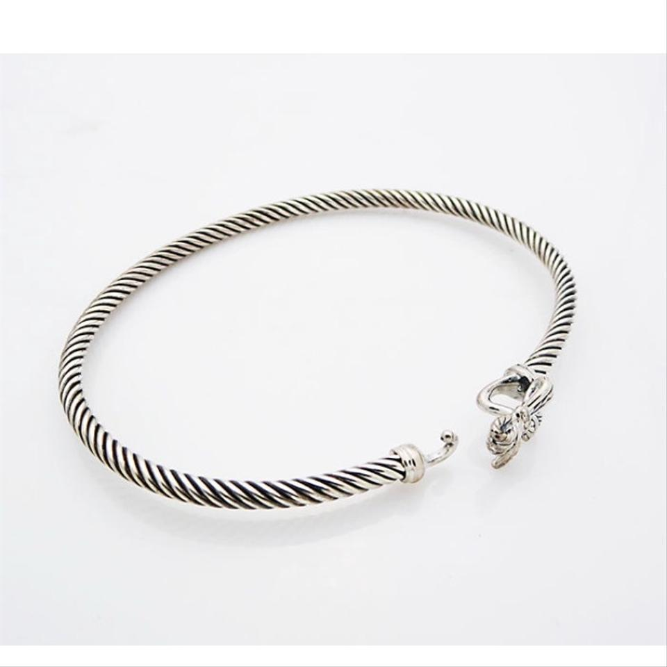 David yurman sterling silver bow cable bracelet tradesy for David yurman like bracelets