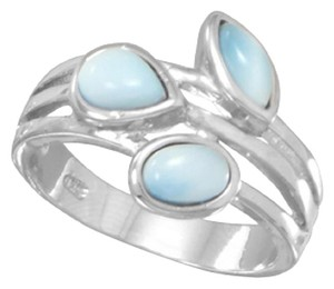 Other Multishape Larimar Ring (available sizes 7-9)