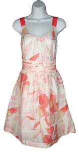 Ann Taylor LOFT short dress Romantic Floral Linen Fitted on Tradesy