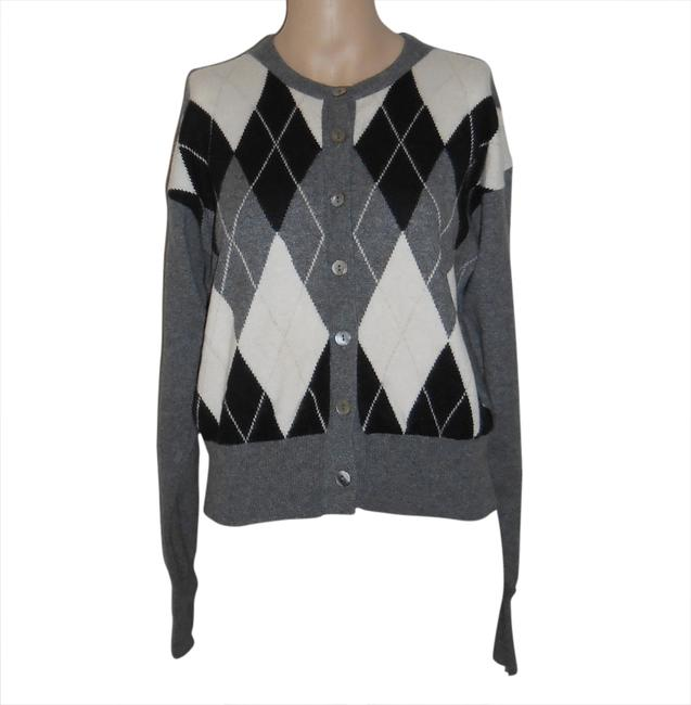 Preload https://item2.tradesy.com/images/autumn-cashmere-gray-argyle-cardigan-size-6-s-1791741-0-0.jpg?width=400&height=650