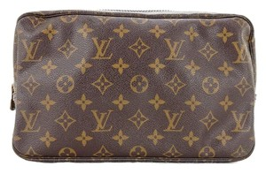 Louis Vuitton Trousse Toilette 23 Monogram Canvas Leather Makeup Travel Tote Bag