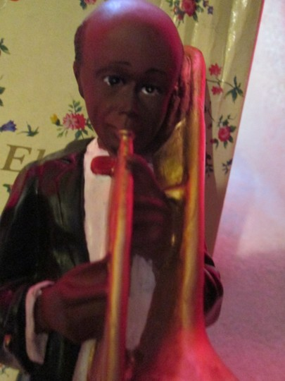 CHIEFLY ELEGANCE Chiefly Elegance Retro Vintage Antique Jazzman Figure With Trumpet Image 1