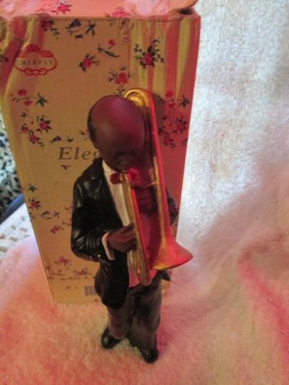 CHIEFLY ELEGANCE Chiefly Elegance Retro Vintage Antique Jazzman Figure With Trumpet Image 2