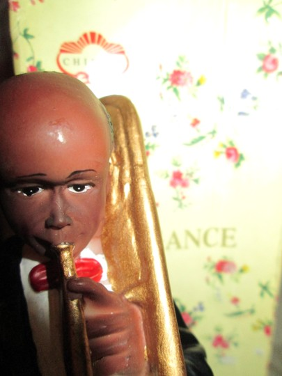 CHIEFLY ELEGANCE Chiefly Elegance Retro Vintage Antique Jazzman Figure With Trumpet Image 5